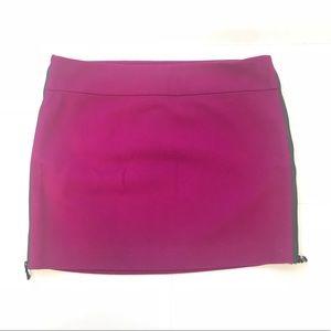 DVF Side Zipper Mini Skirt Sz 8